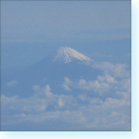 fujisan (mt fuji) from the air