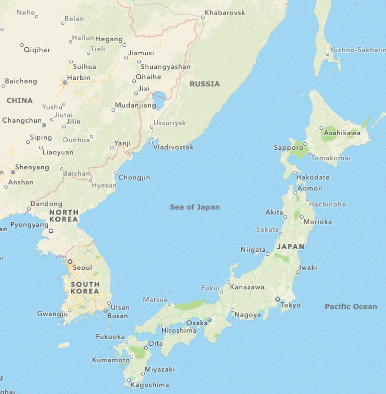 Sea Of Japan Makes Japan Separate - Japan map bodies of water